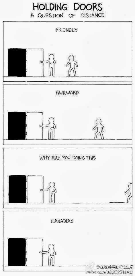 Image result for canadian holding doors open